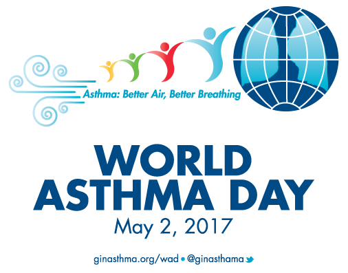 Logo for World Asthma Day 2017, an annual event organized by the Global Initiative for Asthma to improve asthma awareness and care around the world - Forest Medical Equipment Calibration