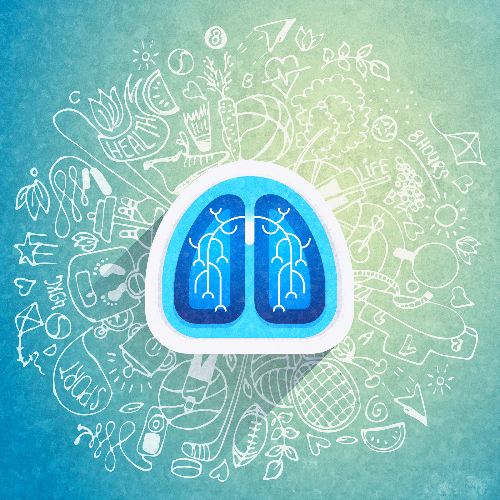 Medical Equipment Calibration - Abstract Lung Icon