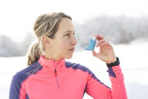 Medical Equipment Calibration - A Fitness running woman in winter season