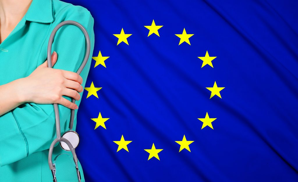 Doctor And European Union Flag