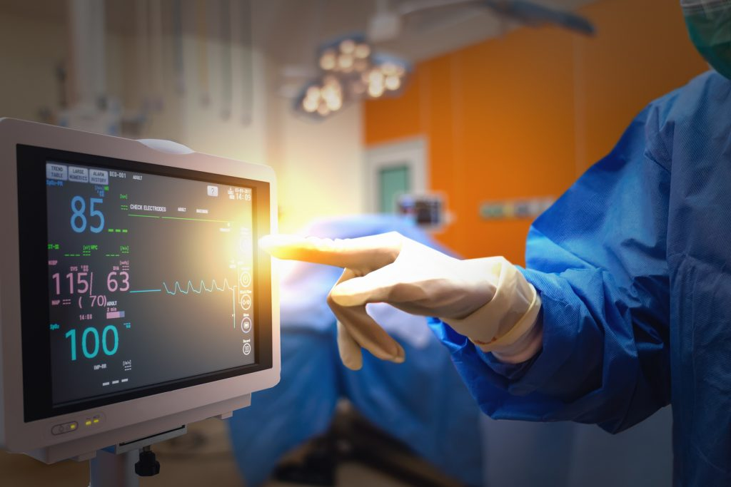 Smart Medical Technology In Hospital Concept, Doctor In Surgeons